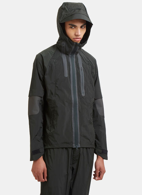 Ribbed Panel Technical Nylon Jacket