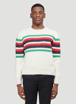 Gucci KNIT WITH RED GREEN NAVY STRIPE