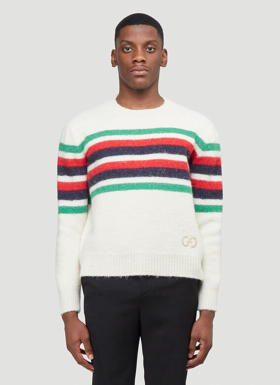 Gucci KNIT WITH RED GREEN NAVY STRIPE 1