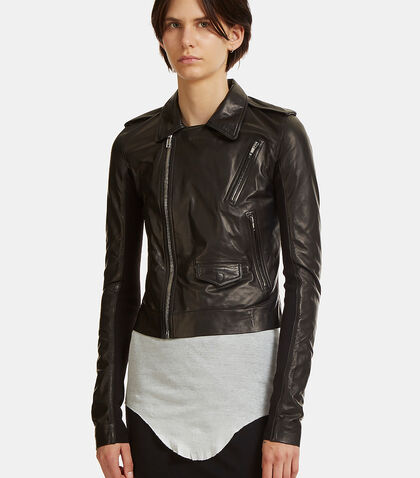 Classic Stooges Cropped Leather Jacket