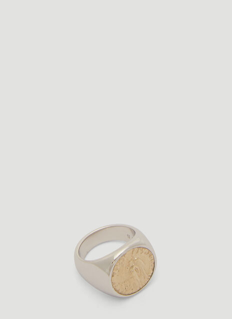 Tom Wood Angel Coin Ring