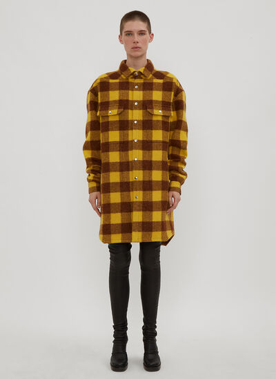 Rick Owens Oversized Big Check Shirt