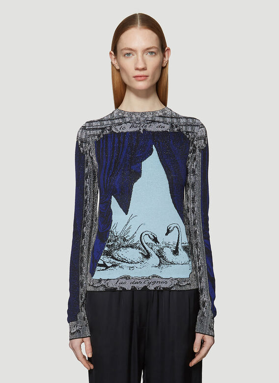Acne Studios Printed Long Sleeved Top