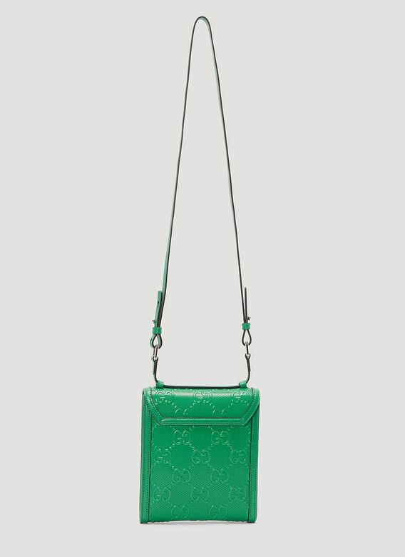 Gucci Perforated-Leather Crossbody Bag 4