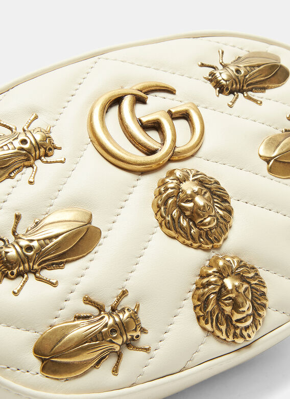 Gucci GUCCI GG MARMONT 2.0 INSECTS METAL MINI BELT BAG