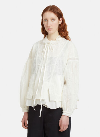 Renli Su Padded Button Front Shirt