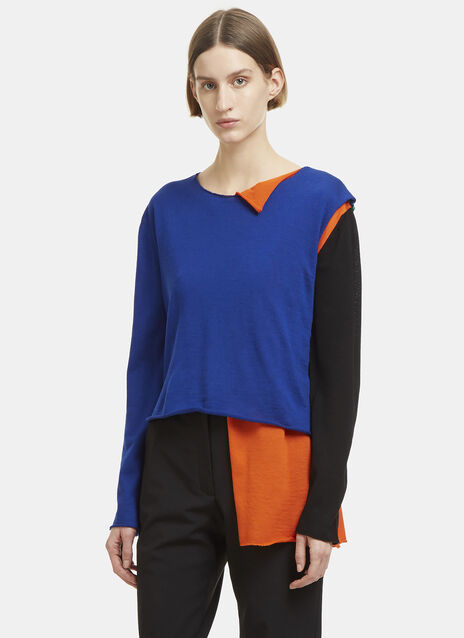 JW Anderson Asymmetric Colour-Blocked Sweater
