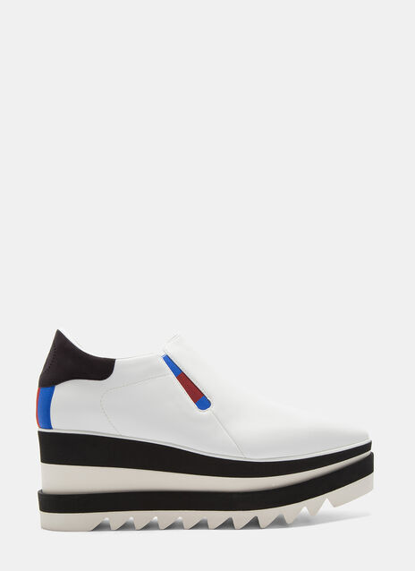 Stella Mccartney Elyse Striped Platform Slip-On Sneakers