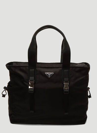 프라다 Prada Fabric Tote Bag in Black