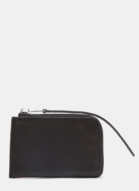 Small Zip-Around Leather Pouch