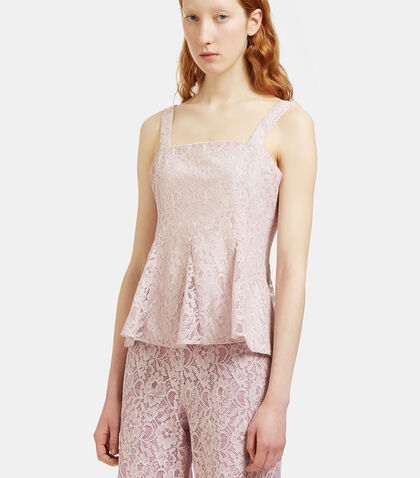 Flared Lace Corset Top