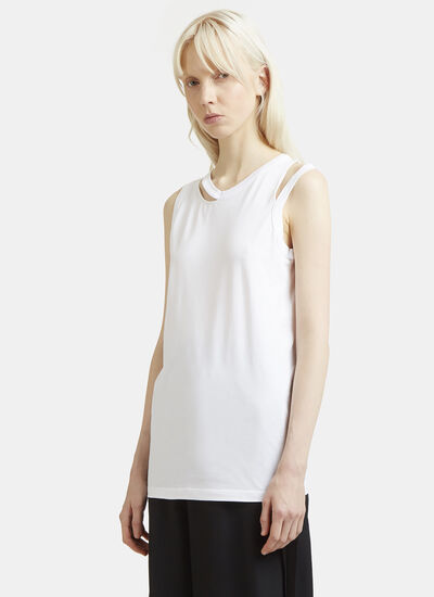 Maison Margiela Cut-Out Collar Vest Top