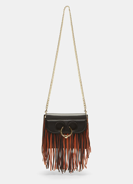 JW Anderson Mini Pierce Fringed Cross Body Handbag