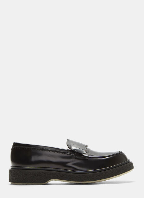 Type 115 Fringed Crepe Sole Loafers