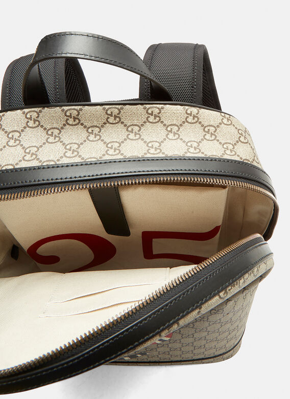 92c408bff461 Gucci Kingsnake Print GG Backpack in Brown | LN-CC