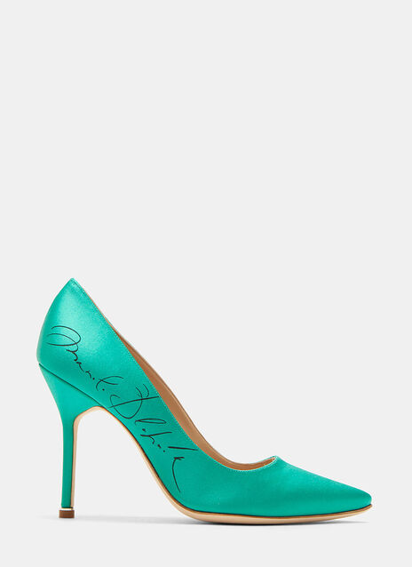 Vetements Manolo Blahnik Signature Stiletto Heeled Pumps