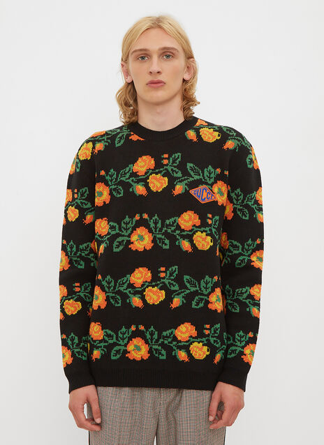 Gucci Flower Print Wool Sweater