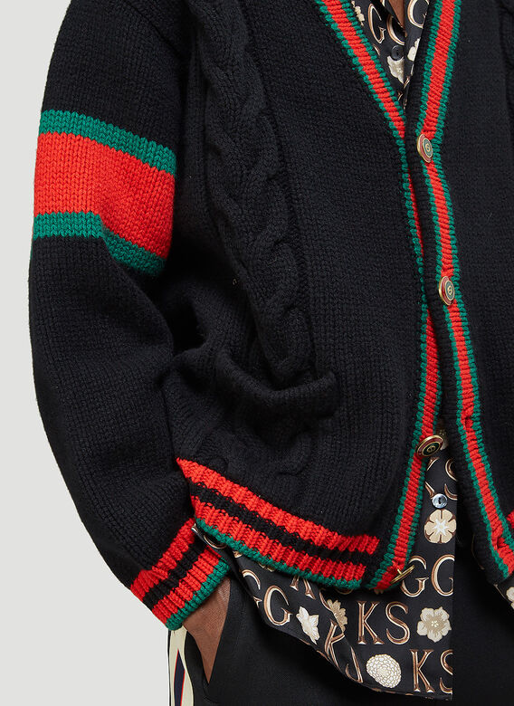 Gucci Oversized Cable-Knit Cardigan 5