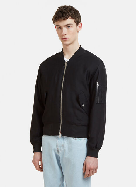 Ami Zipped Bomber Jacket