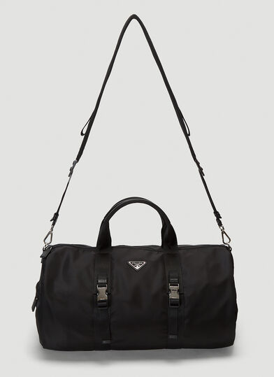프라다 Prada Mini Duffle Bag in Black