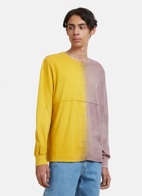 Eckhaus Latta Two-Tone Long Sleeve Lapped T-Shirt