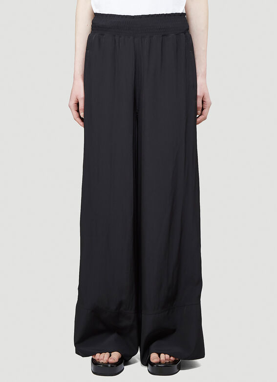 JW Anderson ELASTICATED WAIST WIDE LEG TROUSERS 1