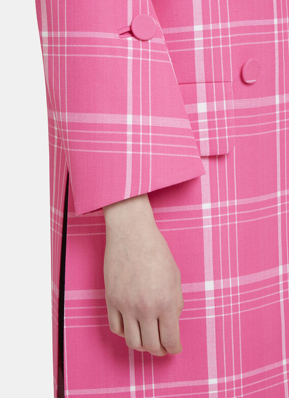 Fendi Checked Double-Breasted Coat