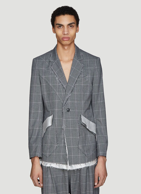 Sulvam Raw Check Blazer