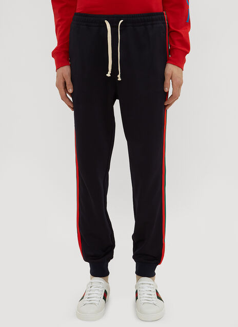 Gucci Technical Jersey Stripe Web Track Pants