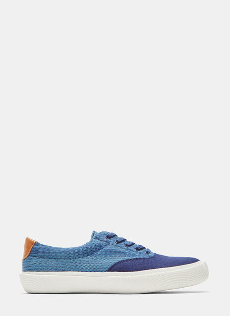 Spingle Move W Shijira Woven Patchwork Low-Top Sneakers