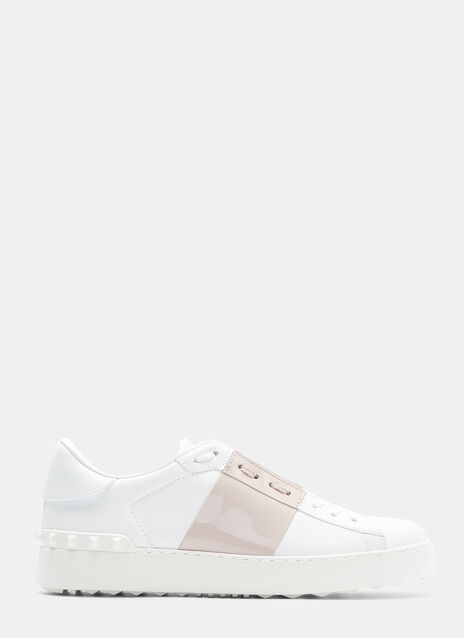Valentino Rockstud Leather Sneakers