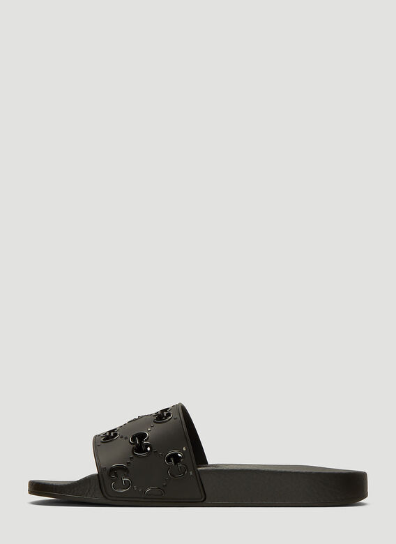 Gucci GG Cut-Out Rubber Slides 3