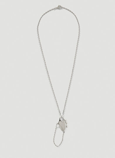 PUBLISHED BY Delicate Bones Necklace Five Necklace in Silver