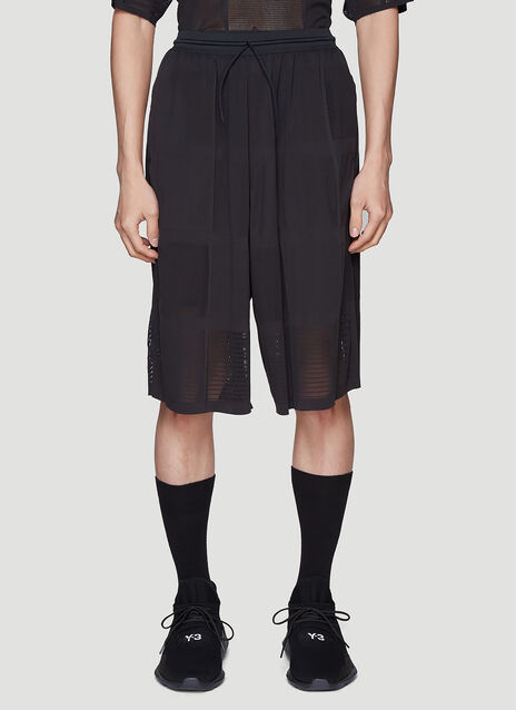 Y-3 Patchwork Mesh Shorts
