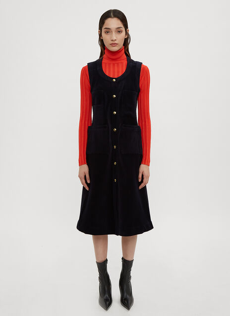 Acne Studios Button Front Pocket Dress