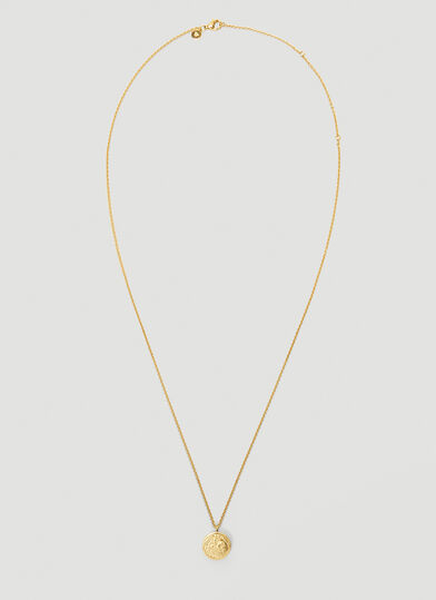 Tom Wood Coin Pendant Necklace in Gold