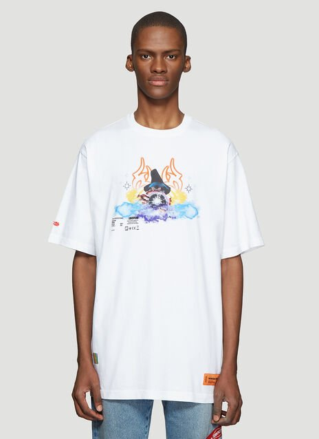 Heron Preston Short Sleeve Magic Wizard Print T-Shirt