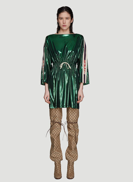 Gucci Metallic Sport Logo Dress