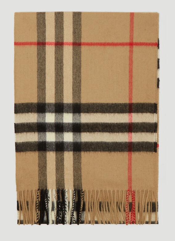 Burberry Vintage Check Knit Scarf 1