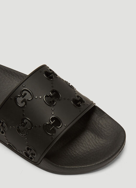 Gucci GG Cut-Out Rubber Slides 5