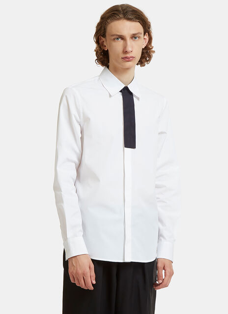 Contrast Placket Poplin Shirt