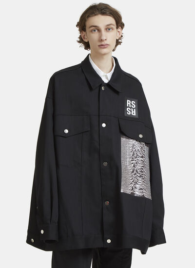 Raf Simons Oversized Joy Division Denim Shirt