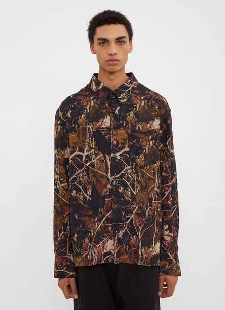 Lanvin Oversized Forest Camouflage Shirt