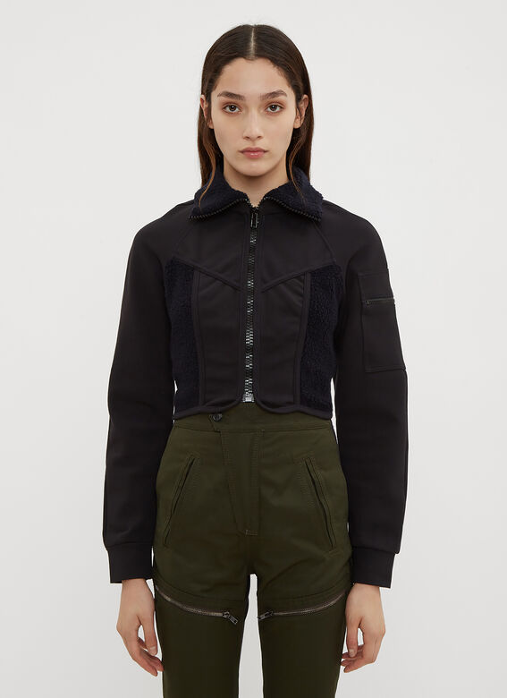 Atlein Jackets Cropped Jersey Wetsuit Jacket in Navy