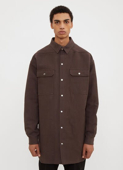 Rick Owens Structured Oversized Shirt