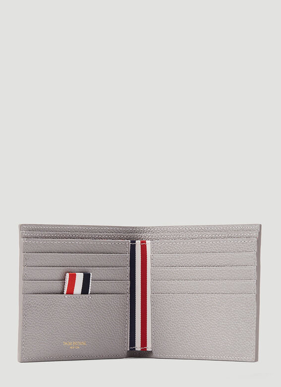 Thom Browne BILLFOLD W/ RWB DIAGONAL EMBROIDERY IN PEBBLE GRAIN LEATHER 4