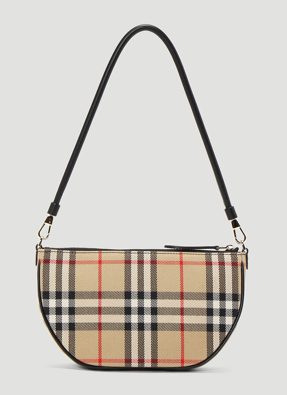 Burberry Olympia Vintage-Check Pouch Bag 4