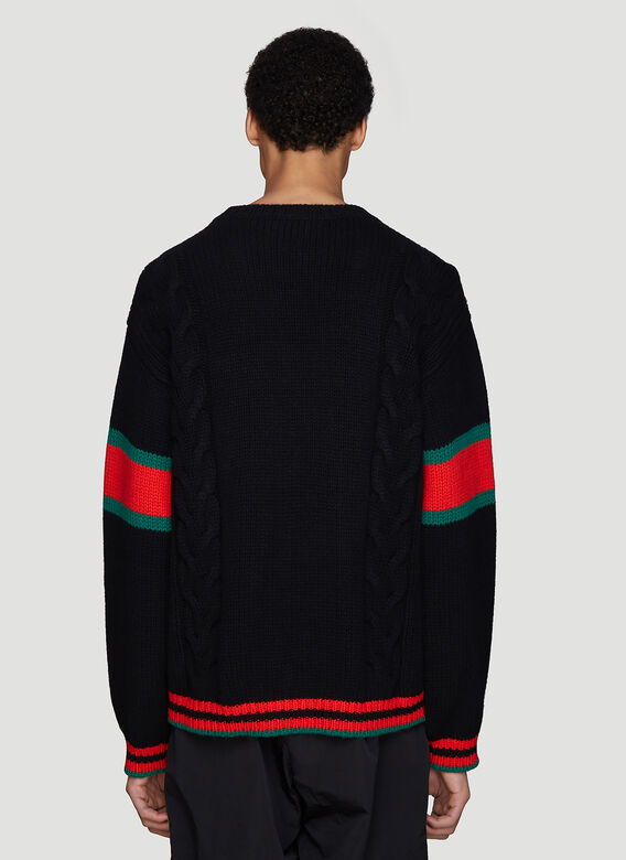 Gucci OSIZED CABLE WEB KNIT
