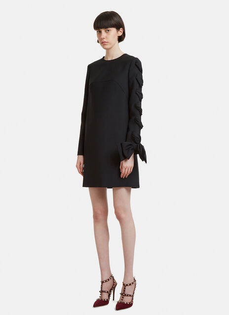 Valentino Bow Sleeve Wool Dress
