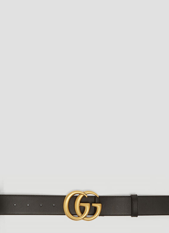 71116a46436 Gucci GG Marmont Leather Belt in Black